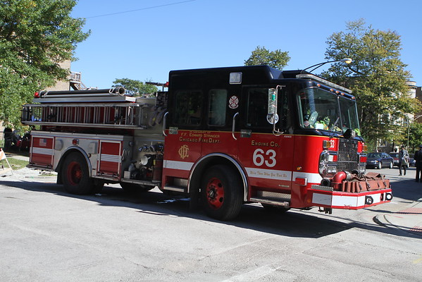 Chicago Fire Department Engine 63 Truck 16 Rally For Resurrection 1 Year Anniversary Shrine Of Christ