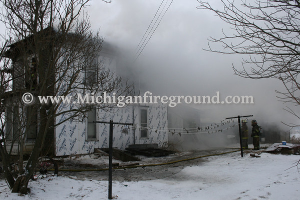 2/2/10 - Rives-Tompkins Twp house fire, 10600 Hopcraft