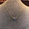 1.32ct Vintage Sapphire Bezel Necklace 16