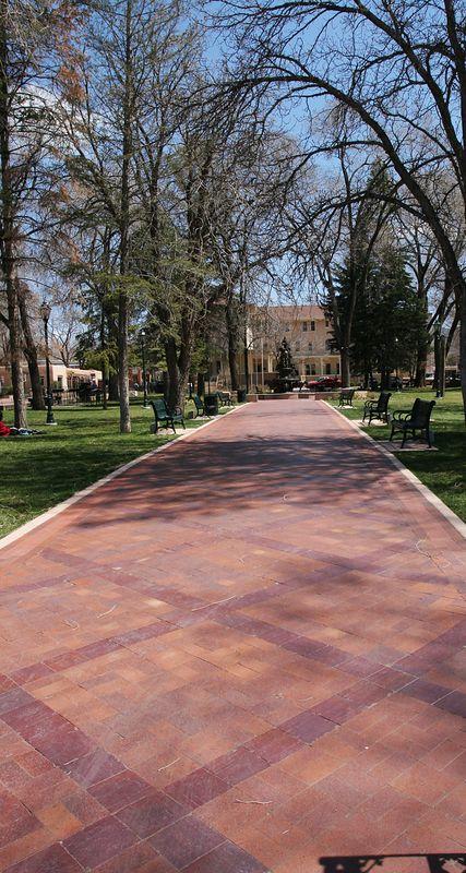 A brick walk in the park