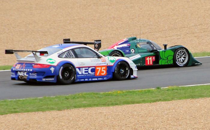 Le Mans 24H Pegeot Porsche GT3 RSR and Lola Judd.jpg