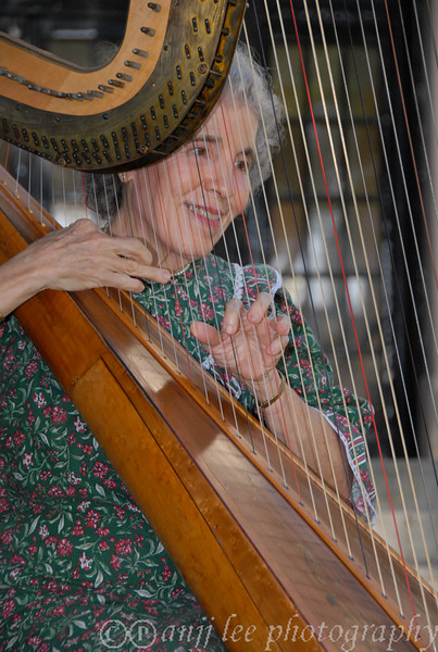 Harpist Ruth Freedman AKA Mrs. Santa