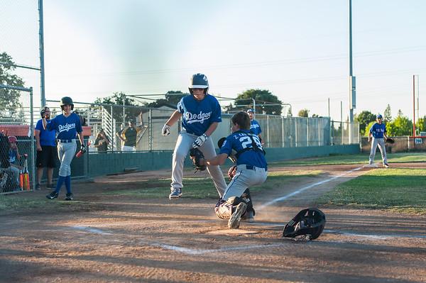 Roseville West Little League Major Rangers vs Dodgers 5-27-15