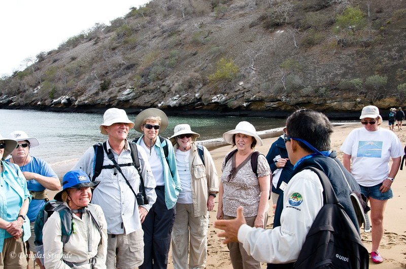 Our group of explorers at Cormorant Point, Floreana Island
