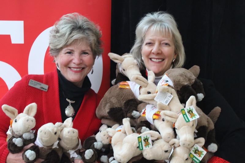 Dr. Bornstein adn Ann Grotness with their Armory of Aardvarks.