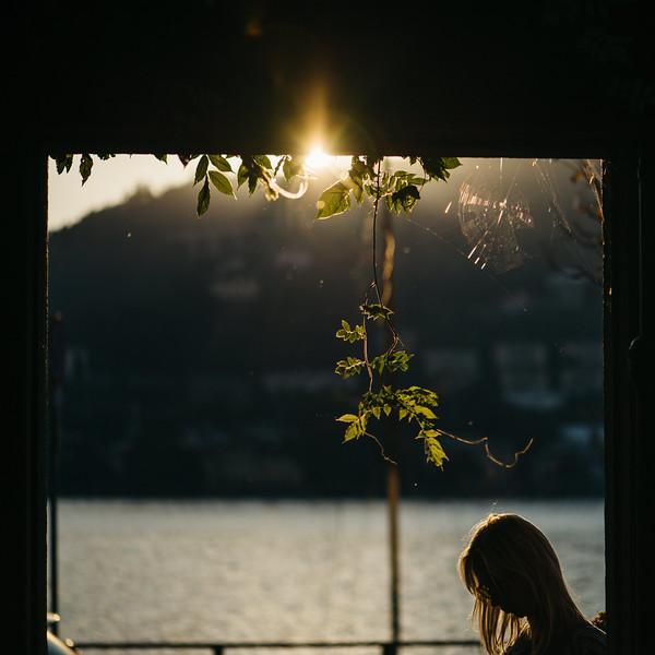 Beautiful sunset at Lake Como, Italy