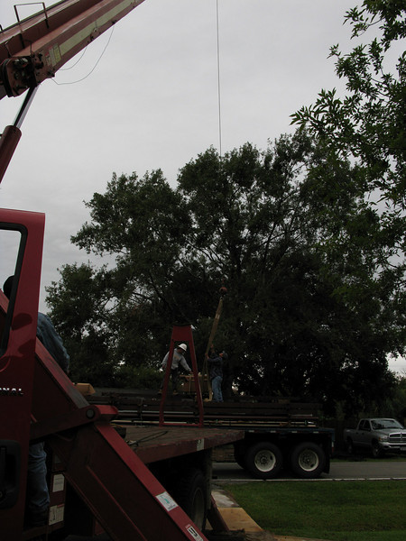 My building being offloaded.