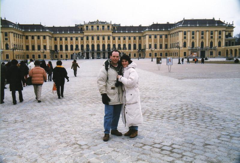 Schonbrunn Palace outside Vienna