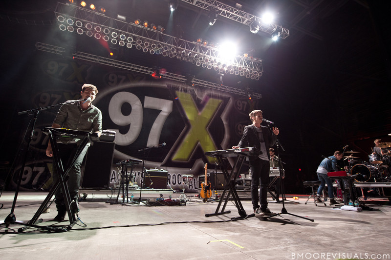 Cubbie Fink and Mark Foster of Foster The People perform on December 3, 2011 during 97X Next Big Thing at 1-800-ASK-GARY Amphitheatre in Tampa, Florida