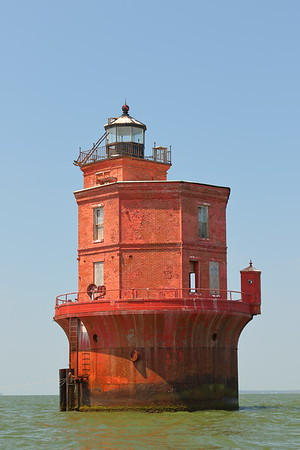 Wolf Trap Lighthouse first put into service in 1894. Chesapeake Bay, Virginia. © 2020 Kenneth R. Sheide