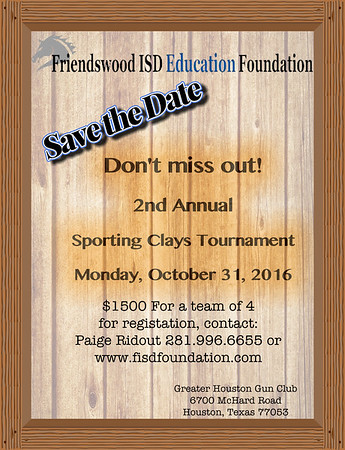 Sporting Clay Shoot- 2016 Fall Fundraiser