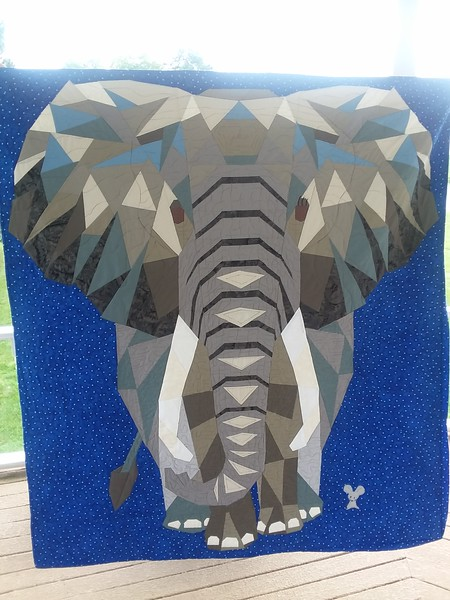 Ann Newell made this Elephant Abstraction Quilt