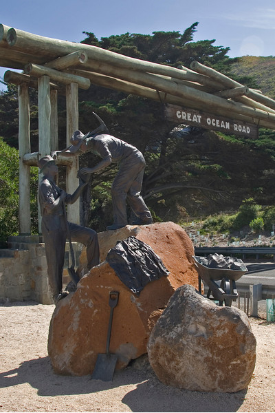 Sign and Statue - Great Ocean Road, Victoria, Australia