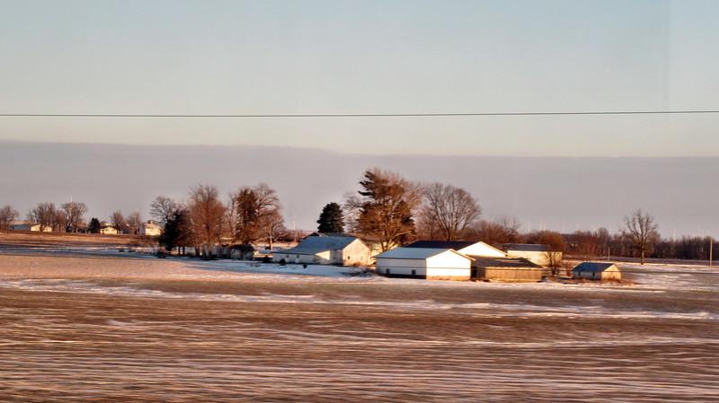 Amtrak's California Zephyr - Chicago to Denver  - January  13-14, 2016