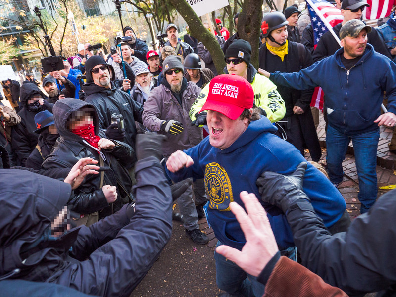 'Defend Immigrants, Fight Back Against Patriot Prayer'