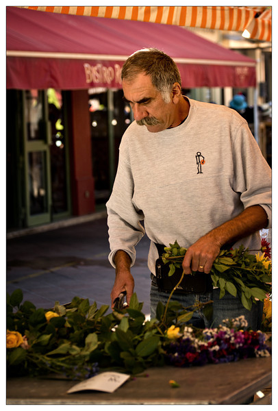 Flower vendor at Market in Nice