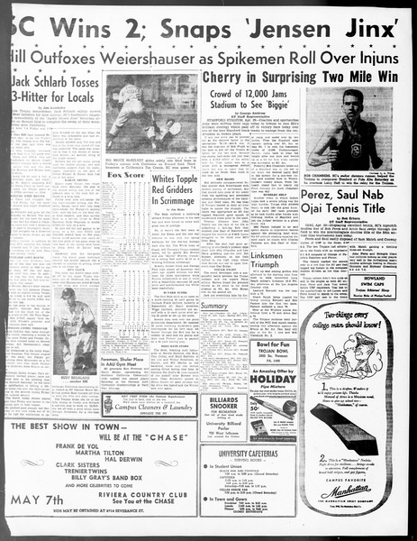 Daily Trojan, Vol. 40, No. 130, May 02, 1949