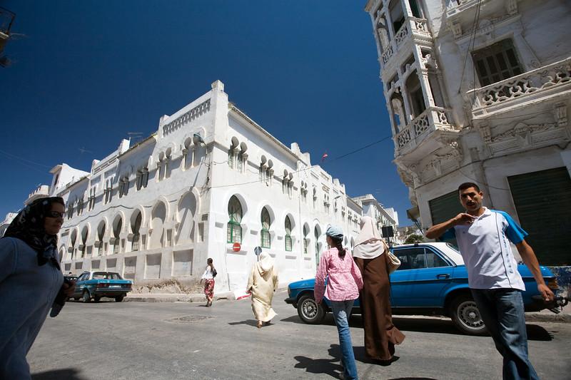 Urban scene in the Spanish quarter, Tetouan, Morocco