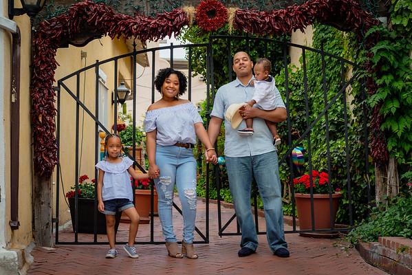 Spring family portraits Old Town Albuquerque