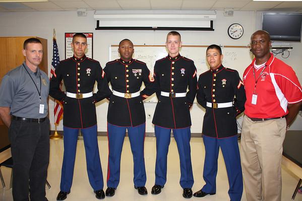 Marines Visit Legacy JROTC