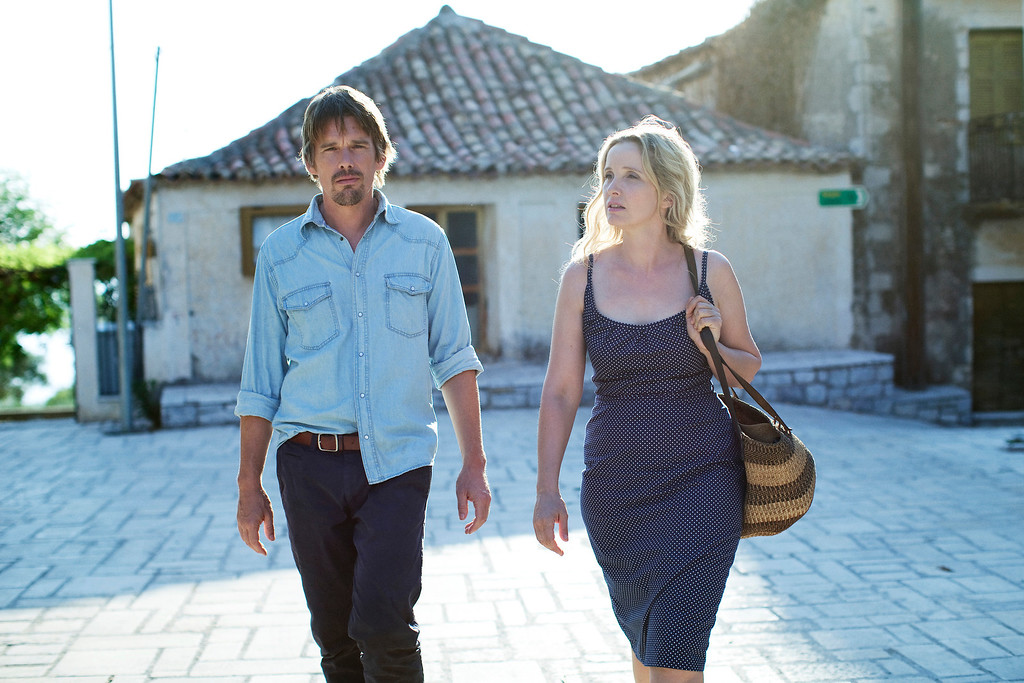 """. Arguably director Richard Linklater\'s greatest invention: couple Jesse (Ethan Hawke) and Celine (Julie Dephly) reunite in a third film, \""""Before Midnight.\"""" Provided by Sony Pictures Classics."""