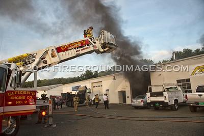 Silvermine Rd. Fire (Seymour, CT) 9/10/14