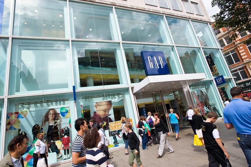 Gap department store, Oxford Street, London, United Kingdom