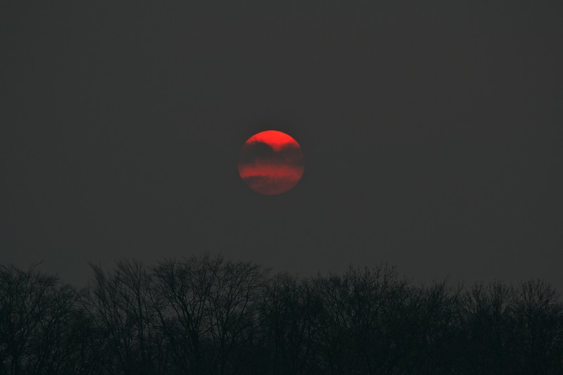Sunset in red