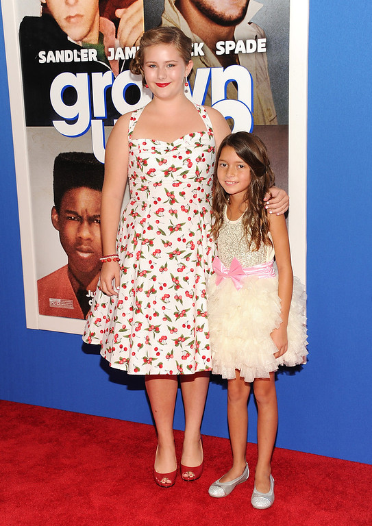 """. Actresses Ada-Nicole Sanger, left, and Alexys Nycole Sanchez attend the premiere of \""""Grown Ups 2\"""" at the AMC Loews Lincoln Square on Wednesday, July 10, 2013 in New York. (Photo by Evan Agostini/Invision/AP)"""