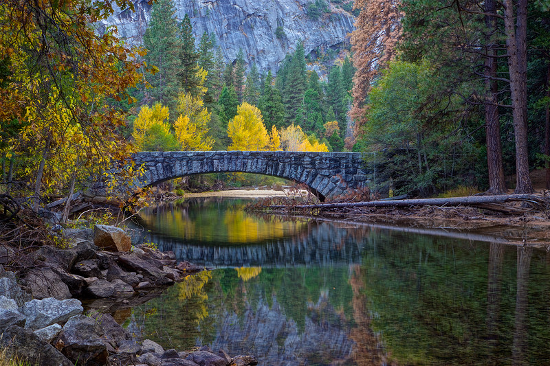 YOS-191029-0015 Stoneman Bridge surrounded by fall colors