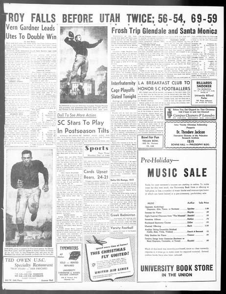 Daily Trojan, Vol. 40, No. 63, December 13, 1948
