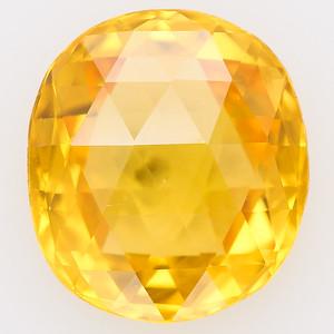 4.43 Double Rosecut yellow sapphire AGL no heat (pcs-371a)