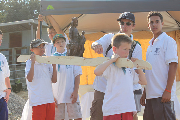 2013 St. Michael's Patrol Fathers-Sons Camp: Rosary procession
