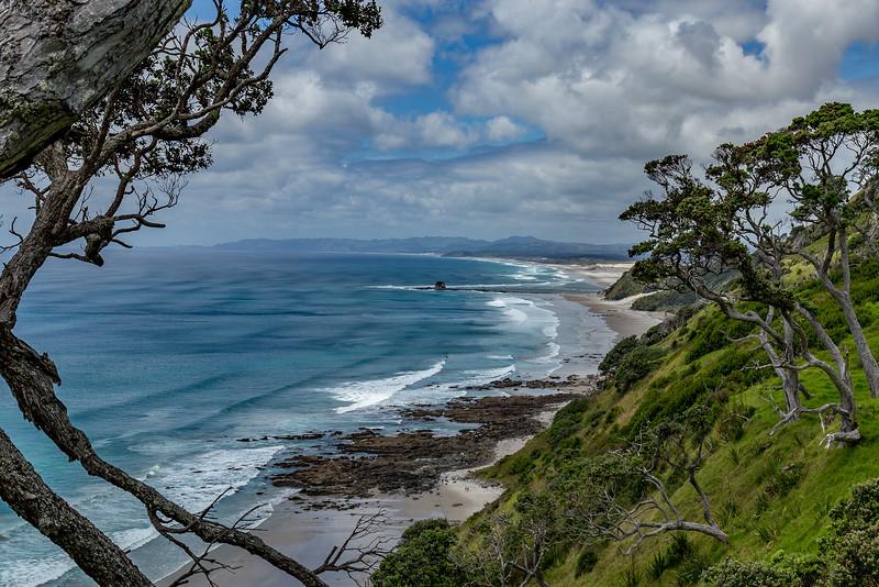 Blick auf die Mangawhai Beach