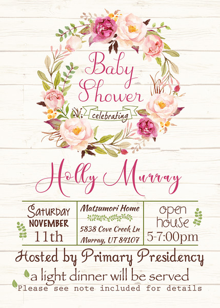 Holly Murray Baby Shower