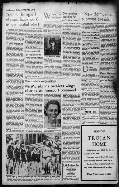 Southern California Trojan, Vol. 35, No. 3, July 09, 1943