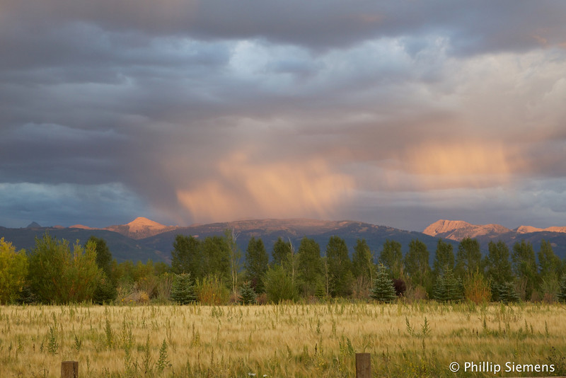 Late afternoon showers in Driggs