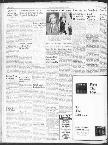 Daily Trojan, Vol. 30, No. 60, January 05, 1939