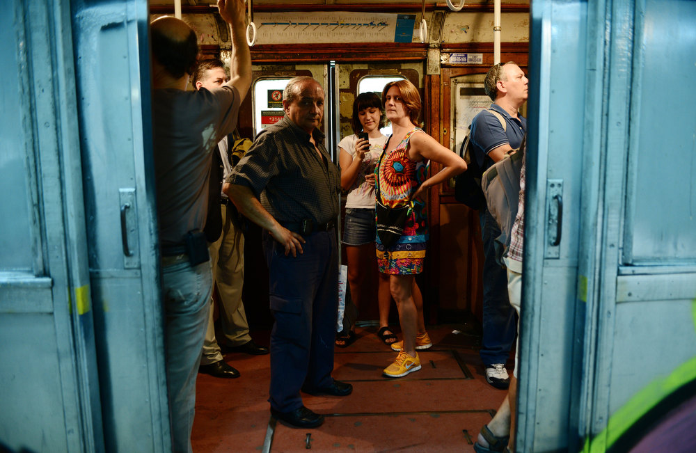 . Passengers take one of the Le Burgeoise wagons of the A Line subway, at Plaza de Mayo station, in Buenos Aires, on January 11, 2013 during the so called last ride of the historic trains. The Line A will be closed betwen January 12 and March 8 following a decision by Buenos Aires city Mayor Mauricio Macri to replace the fleet with Chinese-made wagons. Line A was the first subway line to work in the southern hemisphere and its trains are among the ten oldest still working daily. The La Brugeoise wagons were constructed between 1912 and 1919 by La Brugeoise et Nicaise et Delcuve in Belgium.  LEO LA VALLE/AFP/Getty Images