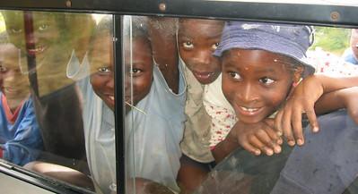 Painting a Zambian School