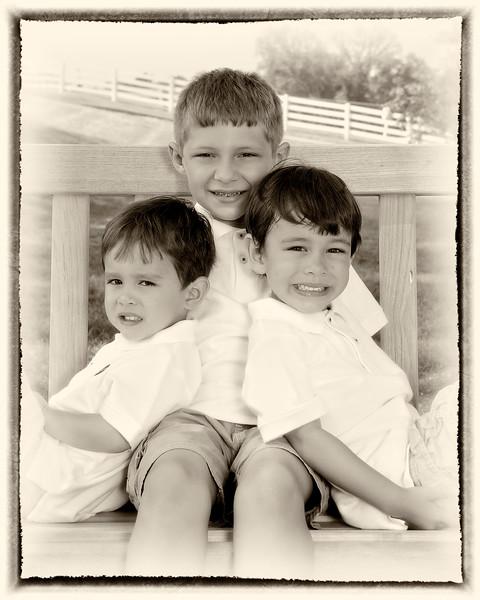 001 Doan Family At Purina Farms 6-11 - Nicholas Dakota Jaden (8x10) framed oldphoto1.jpg