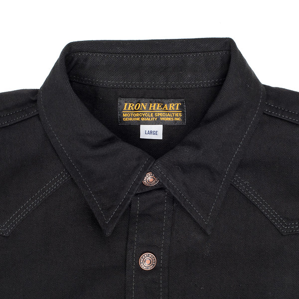 IHSH-166 - Superblack 12oz Selvedge Denim CPO Style Western Shirt-6222.jpg