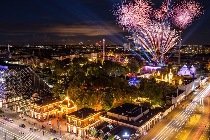 Fireworks Over Tivoli Gardens, Copenhagen