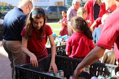 IWA students donate to Christmas food drive