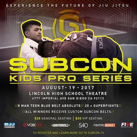 SUBCON KIDS PRO SERIES 8.19.2017