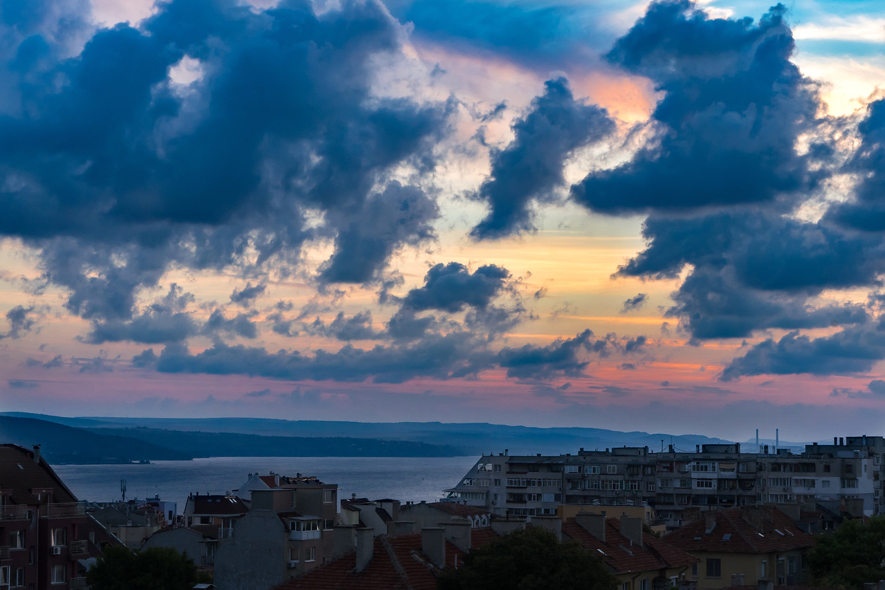 Varna Bulgaria Colorful Sunset
