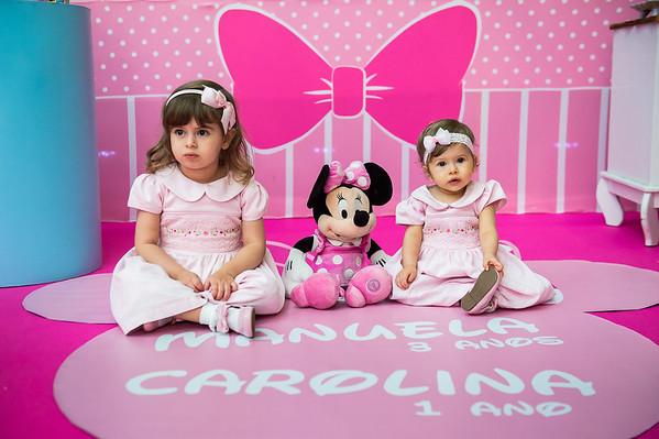 Carolina 01 e Manuela 03 anos