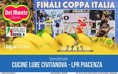 #Semifinale #DelMonteCoppa «Cucine Lube Civitanova - Lpr Piacenza» #SuperLega