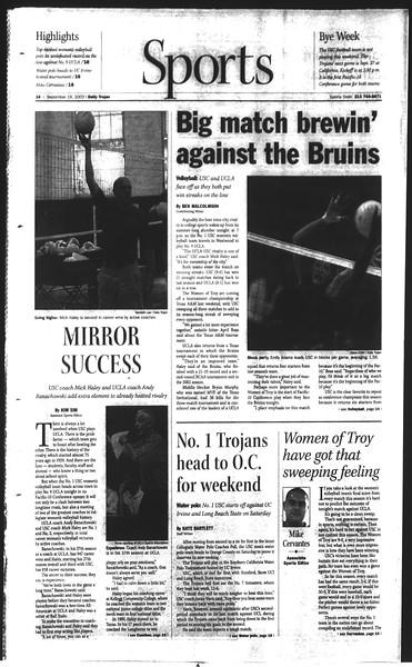 Daily Trojan, Vol. 150, No. 18, September 19, 2003