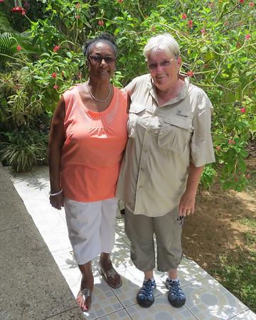With Bernadette Plair, Trinidad 2014